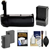 Zeikos BG-E11 Battery Grip for EOS 5D Mark III, 5DS & 5DS R DSLR Camera with (2) LP-E6 Batteries + Charger + Cleaning & Accessory Kit