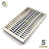 G.S NEW HEAVY DUTY PREMIUM GERMAN GRADE 5 DENTAL AUTOCLAVE STERILIZATION CASSETTES FOR 20 INSTRUMENTS ( PACK OF 5 EACH ) BEST QUALITY