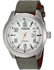 Armitron Adventure Men's AD/1005IVSVGN Glow Dial Powered by Visible247 Army Green Nylon Strap Watch