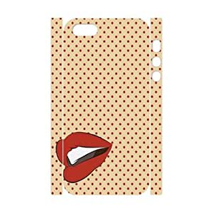 Red Lips Pop Art DIY 3D Cell Phone Case for iPhone 5,5S LMc-54126 at LaiMc