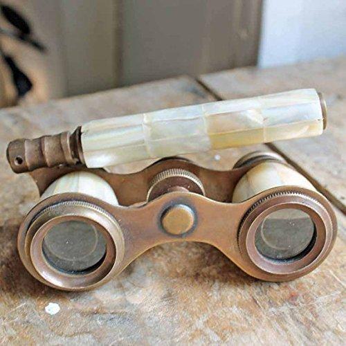NAUTICALMART Brass Binocular Mother of Pearl - Antique Opera Binocular By
