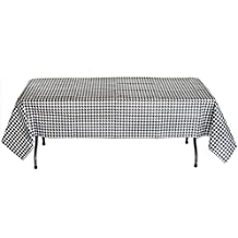"""Black and White Check Table cover (54"""" x 108"""", Paper, Water and Tear Resistant) Alabama Houndstooth Party Collection by Havercamp"""