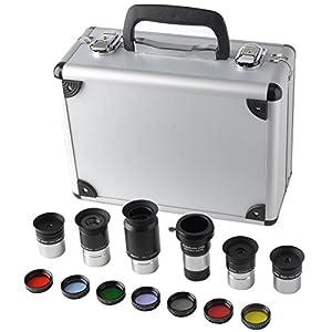 1.25-Inch Telescope Accessory Kit- Plossl Eyepiece Set, Filter Set, Barlow Lens
