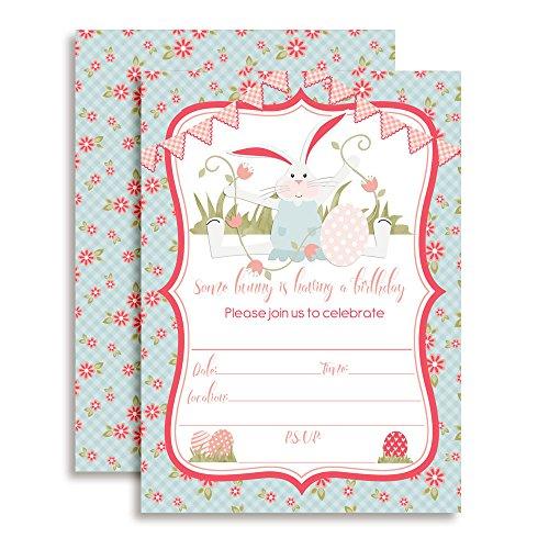 - Bunny Birthday Party Invitations for Girls, 20 5