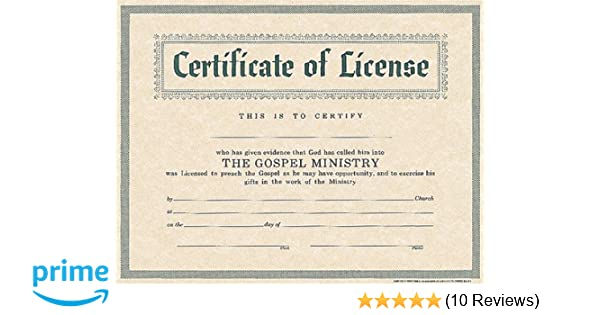 graphic regarding Free Printable Minister License Certificate titled Certification of License for Minister