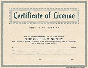 Declarative image for free printable minister license certificate