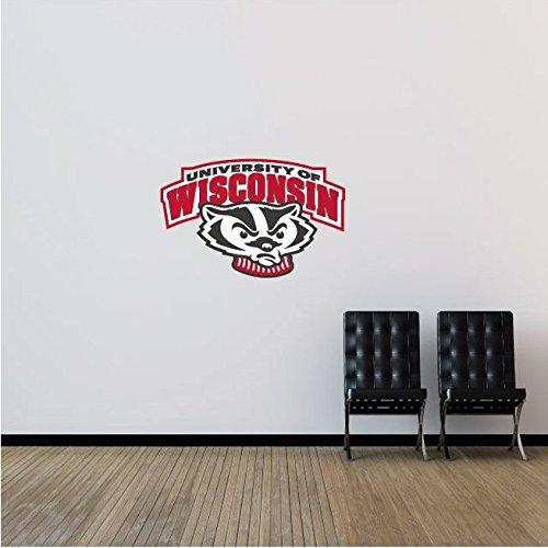 Wisconsin Badgers NCAA USA Slogan Logo College Sport Art Wall Decor Sticker 25'' x 16''