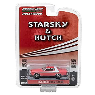 Greenlight 44780-A Starsky and Hutch (1975-79 TV Series) - 1976 Ford Gran Torino 1/64 Scale: Toys & Games