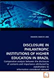 Disclosure in Philantropic Institutions of Higher Education in Brazil, Emanoel Marcos Lima, 3639277600