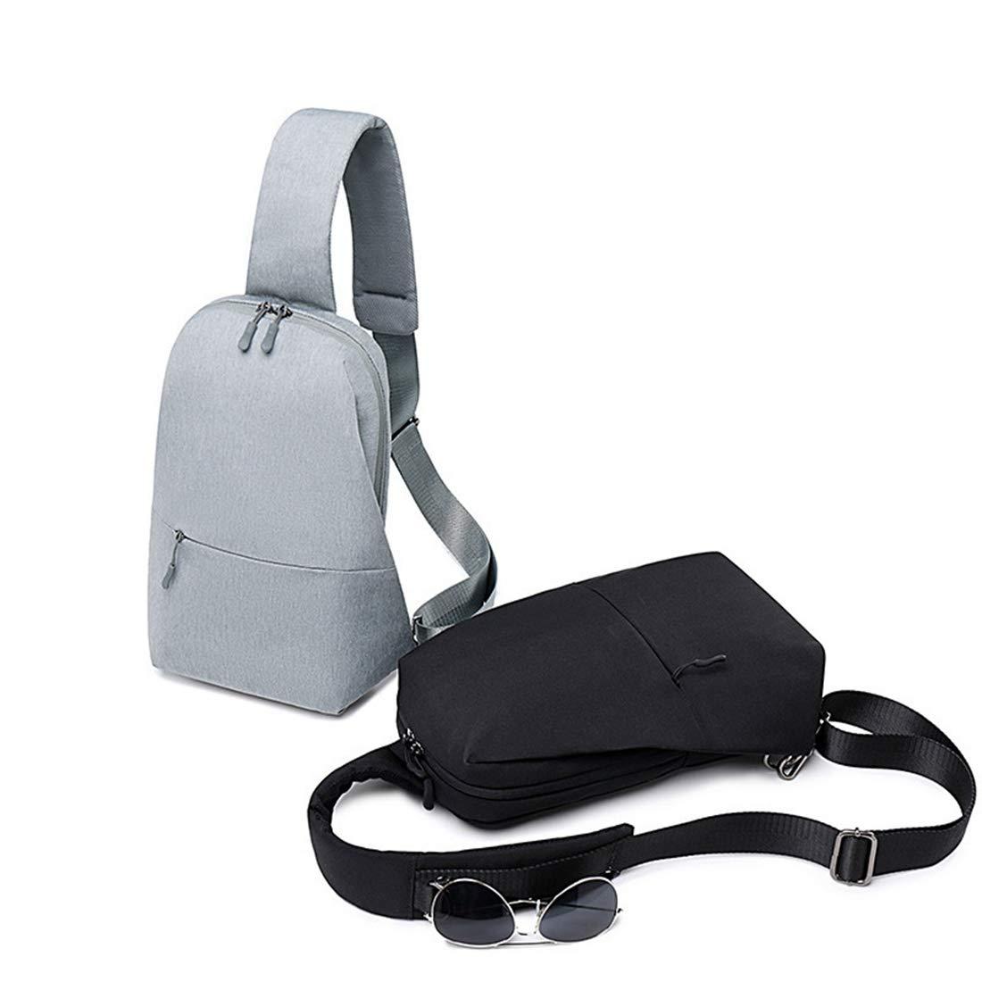 RABILTY Sling Chest Bag Outdoor Travel Hiking Crossbody Daypack for Men Women Color : Black