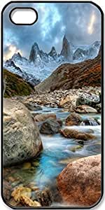 iPhone 5/5s Mountain-River-Stones Case for iPhone 5 iPhone 5s with Black Side