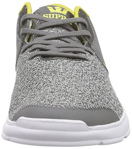 Charcoal Heather Gris Noiz Basses Wht Adulte Mixte Supra Sneakers Grey Gch xp4q0wn8X