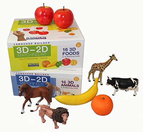Stages Learning Language Builder Firsts Kit (3D-2D Animals Matching Kit and 3D-2D Foods Matching Kt) ()