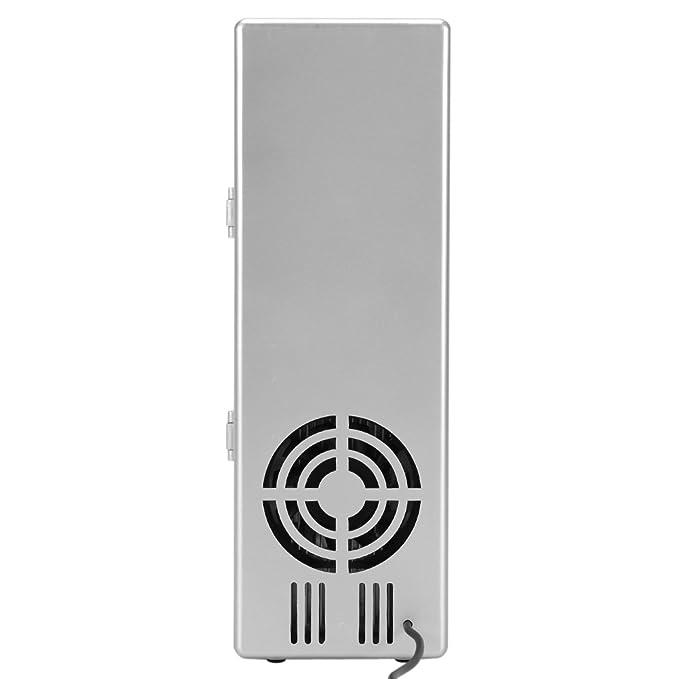 Mini frigorífico USB portátil Mini USB Nevera 2 en 1 ventilador ...