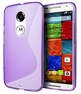 Motorola Moto X (2nd Generation) Case, Cimo [Wave] Premium Slim TPU Flexible Soft Case For Motorola Moto X (2nd Generation, 2014) - Purple