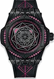 Hublot Big Bang Sang Bleu All Black Pink Sapphires Womans Watch
