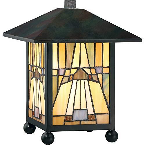 (Quoizel TFIK6111VA Inglenook Mission Tiffany Lantern Table Lamp, 1-Light, 60 Watts, Valiant Bronze (11