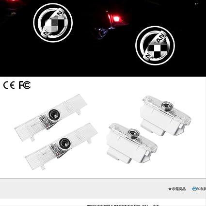 Luces de luz de bienvenida Focos láser especiales 2PCS Puerta del ...