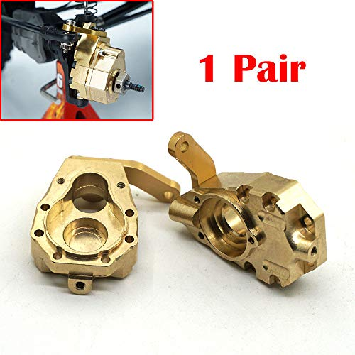 - 1Pair 135g Metal Brass Front Steering Knuckle Upgrade for Crawler Traxxas TRX-4