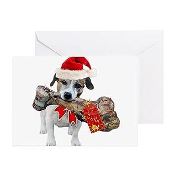 Amazon Cafepress Jack Russell Give Santa His F Greeting