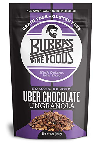 Paleo Grain-Free Granola | Bubbas Fine Foods Uber Chocolate | Gluten-Free Breakfast Cereal | 6 Ounce | Pack of 1