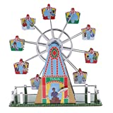 SM SunniMix Merry Go Round Toy Miniature Garden Ferris Wheel Clockwork Classic Amusement Model