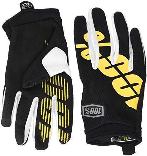100% ITRACK Youth Leather/Textile Off-Road Motorcycle Gloves - Black/Yellow / ()