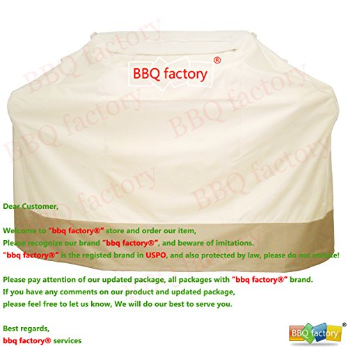 bbq factory Barbecue Grill Cover JAX912 for Weber(Genesis), Charmglow, Brinkmann, Jennair, Uniflame, Lowes, and Other Model Grills (59