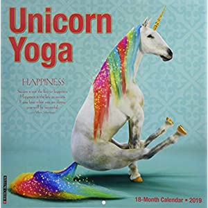 Unicorn Yoga 2019 Wall Calendar