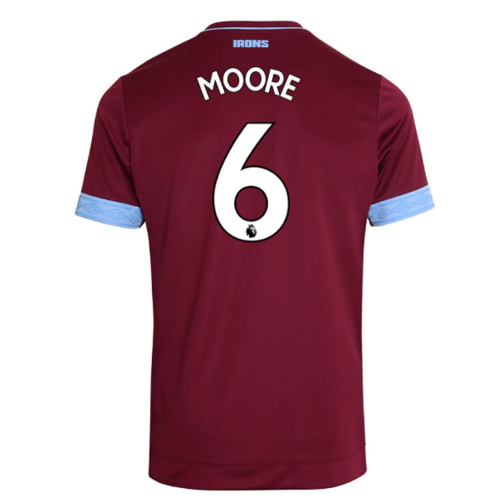 2018-2019 West Ham Home Football Soccer T-Shirt Trikot (Bobby Moore 6)