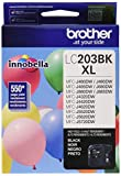 Office Products : Brother Genuine High Yield Black Ink Cartridge, LC203BK, Replacement Black Ink, Page Yield Up To 550 Pages, Amazon Dash Replenishment Cartridge, LC203