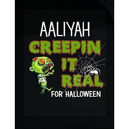 Aaliyah Creepin It Real Funny Halloween Costume Gift - Sticker (Aaliyah Halloween)