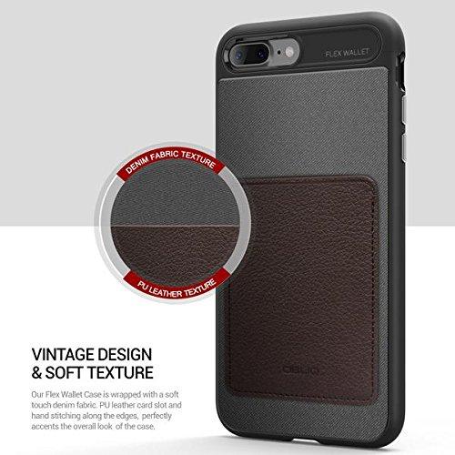 Obliq Etui Porte-monnaie pour iPhone 7 Plus Expresso