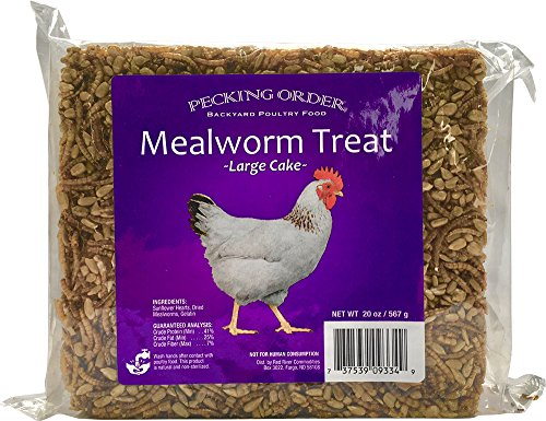 Pecking Order Mealworm Treat Cake, 20 oz (Meals Poultry)