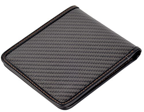 Wallet For Men Carbon Fiber Wallet MGCFTan Credit Card Holder- RFID Bifold Wallet