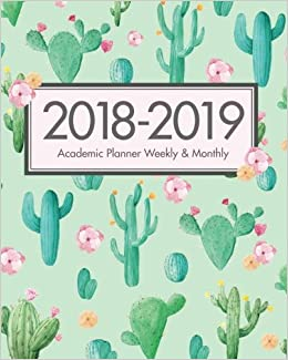 2018 2019 academic planner weekly and monthly calendar schedule