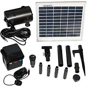 Amazon Com Asc 16 Watt Solar Power Panel Kit Water Pump