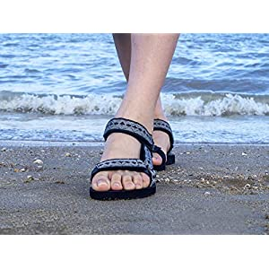 riemot Sandali Estivi Donna, Sandali Sportivi, Casuale Sandalo Basse Passeggio Scarpe Wide Fitting Leggero Comfort