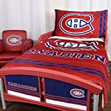 NHL 42707-311-TDST-MONT Montreal Canadiens 3 Piece Toddler Bedding Set