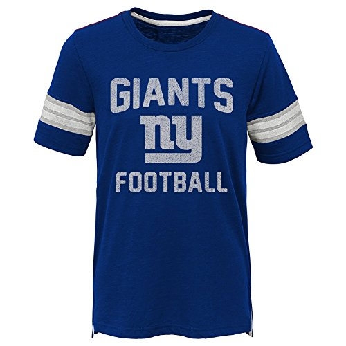 Outerstuff NFL NFL New York Giants Kids Prestige Short Sleeve Crew Neck Tee Dark Royal, Kids Large(7) - Football Jersey Giants Ny