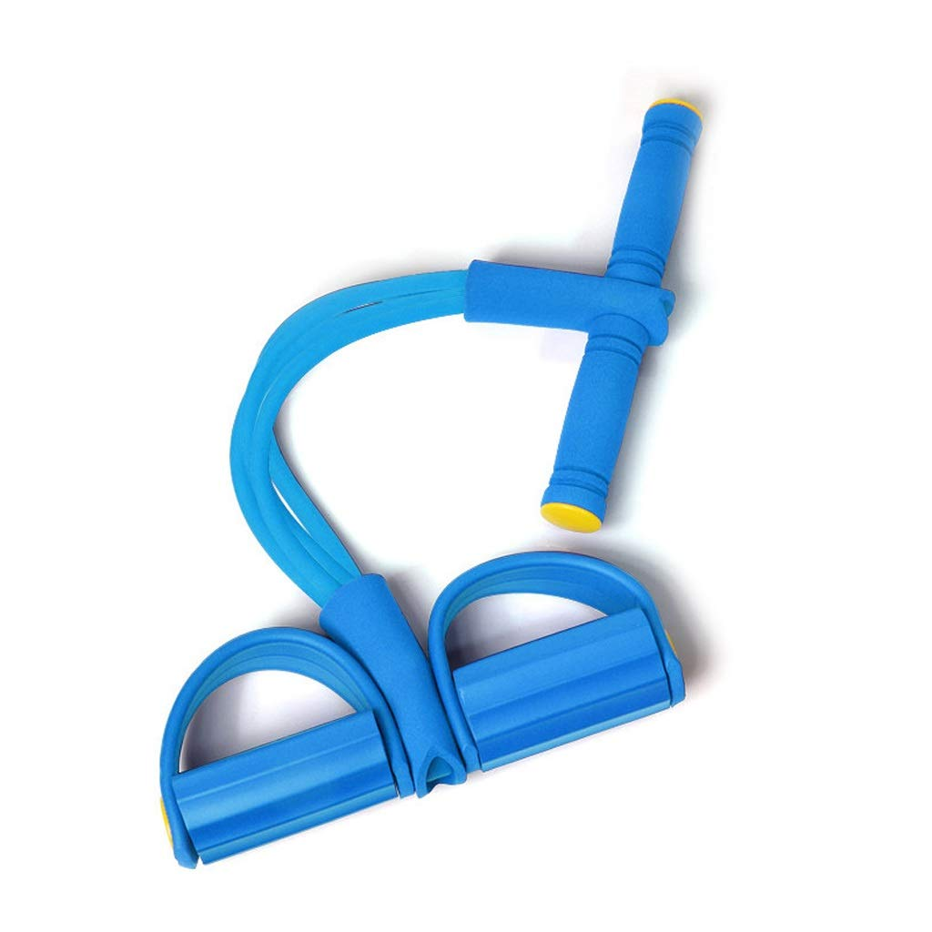 Chest Expander Rally Artifact Weight Loss Belly Tweezers Ankle Sit-ups Auxiliary Fitness Yoga Equipment Home HUXIUPING (Color : Blue)