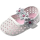 Fire Frog Sweet Baby Girls Summer Mary Jane Princess Dress Soft Soled Bottom Shoes White 0-6 Month