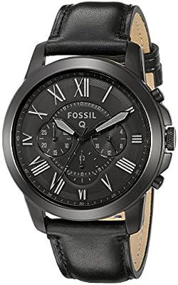 Fossil Q Grant Black Leather Hybrid Smartwatch