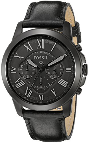 Fossil Q Grant Chronograph Black Leather Smartwatch