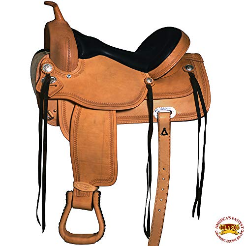 "HILASON 16"" Western Horse Saddle Leather Flex Trail Pleasure"