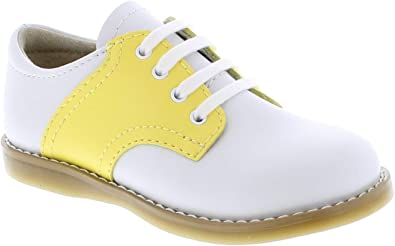 FootMates Cheer Laceup Saddle White//Navy 8401//12.5 Little Kid M//W