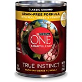 Purina ONE SmartBlend True Instinct Natural Classic Ground Grain-Free Formula With Real Turkey & Venison Adult Wet Dog Food - Twelve (12) 13 oz. Cans