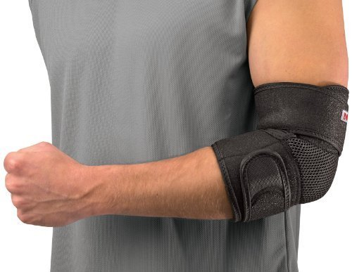 Mueller Adjustable Elbow Support, Black, One Size, Pack of 2 Braces by Mueller