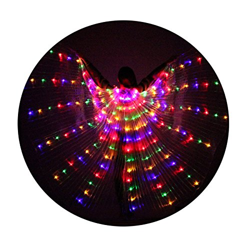 Besplore Women's Belly Dance Isis Wings,Costume Angle LED Isis Wings,Colorful Light (Toddler Isis Halloween Costume)