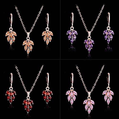 Pearls Grape Bunches Earrings (Fashion Jewelry Sets Shining CZ a bunch of grapes Pendant Necklace Earrings)
